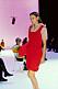 Bottega veneta ss21 röd stickad klänning.