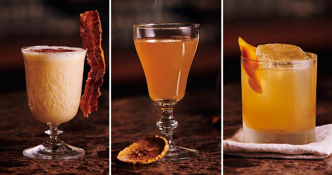Maple Bourbon Eggnog, Warm Cider och Gold Rush.