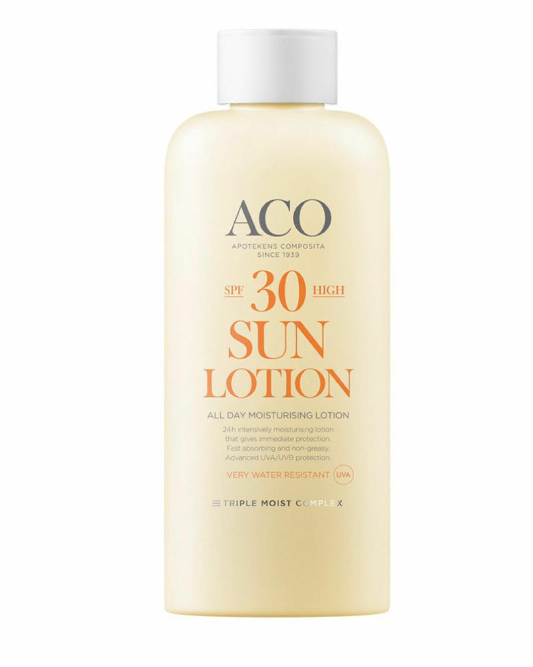 ACO spa 30 sun lotion