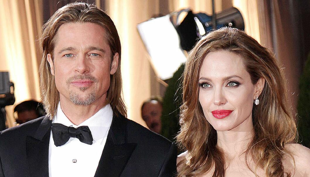 närbild på Brad Pitt och Angelina Jolie på röda mattan