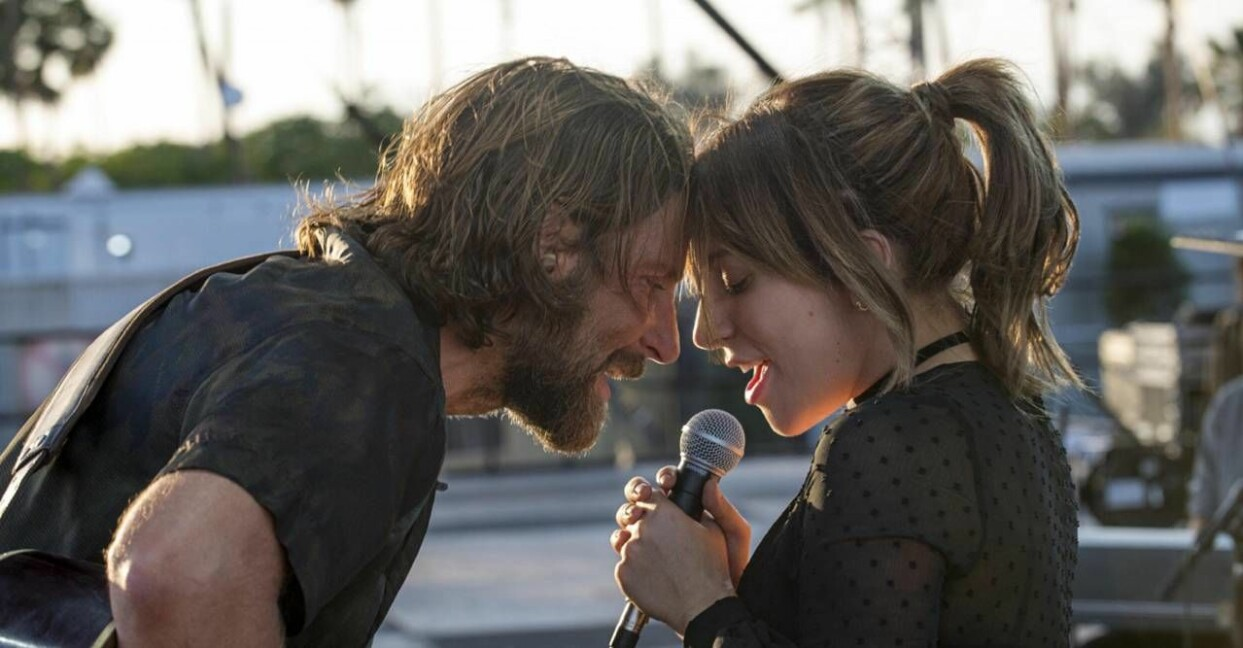 bradley cooper och lady gaga i a star is born