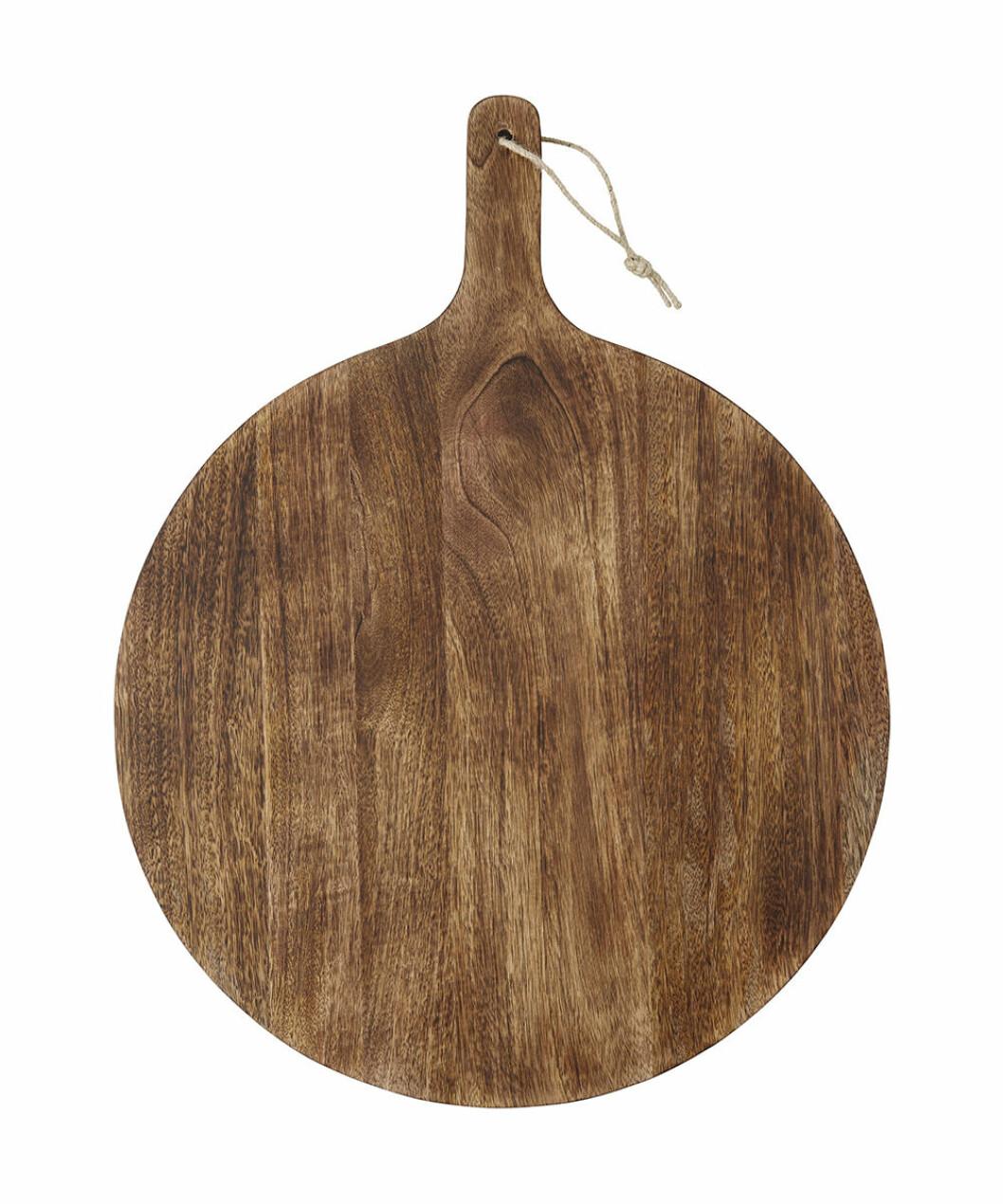 rund bricka i trä