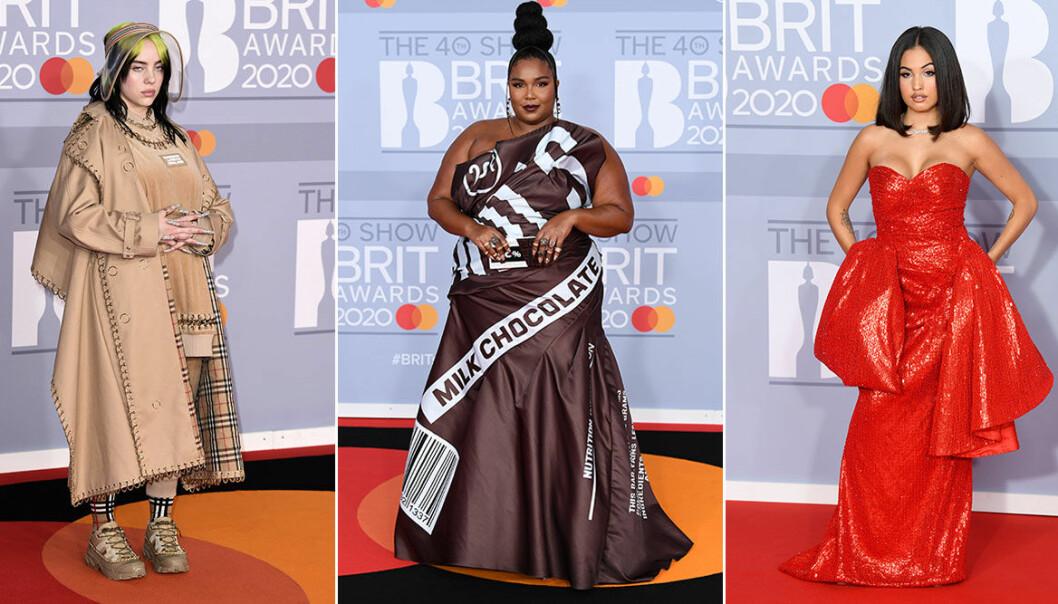 Kändisarna på Brit Awards 2020 .