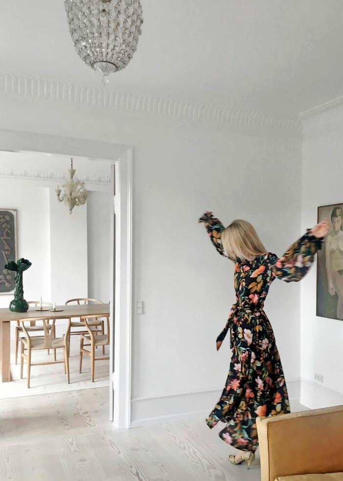 Hemma hos Britt Sisseck i Köpenhamn klänning