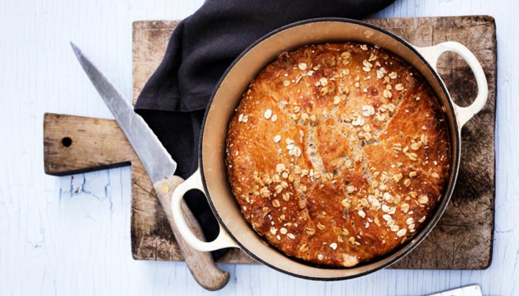 Bröd i gjutjärnsgryta – recept