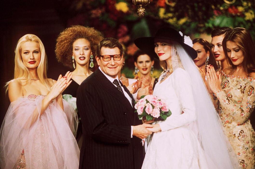 bröllopstrender rosa Yves Saint Laurent, Karen Mulder och Claudia Schiffe