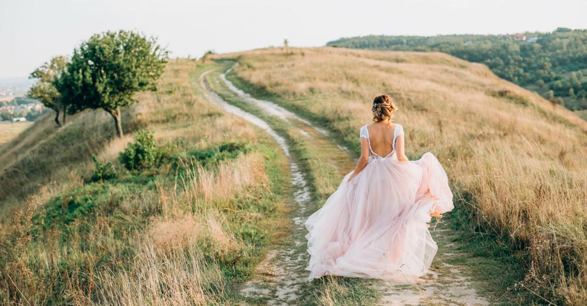 Brudklänning liten budget