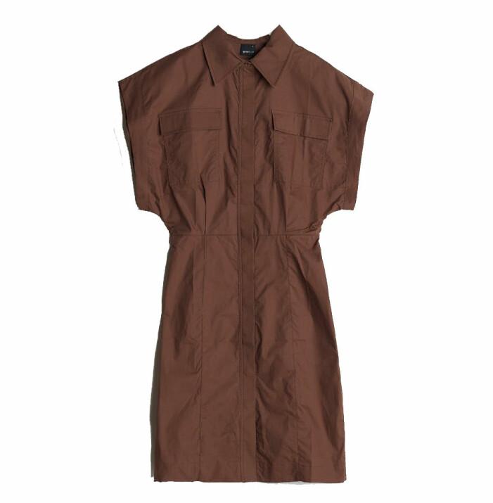 brun klänning gina tricot