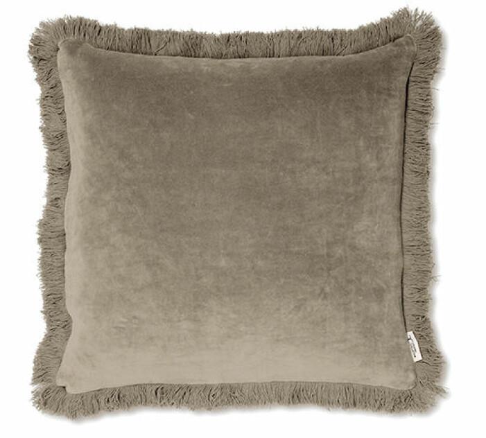 brun kudde i sammet