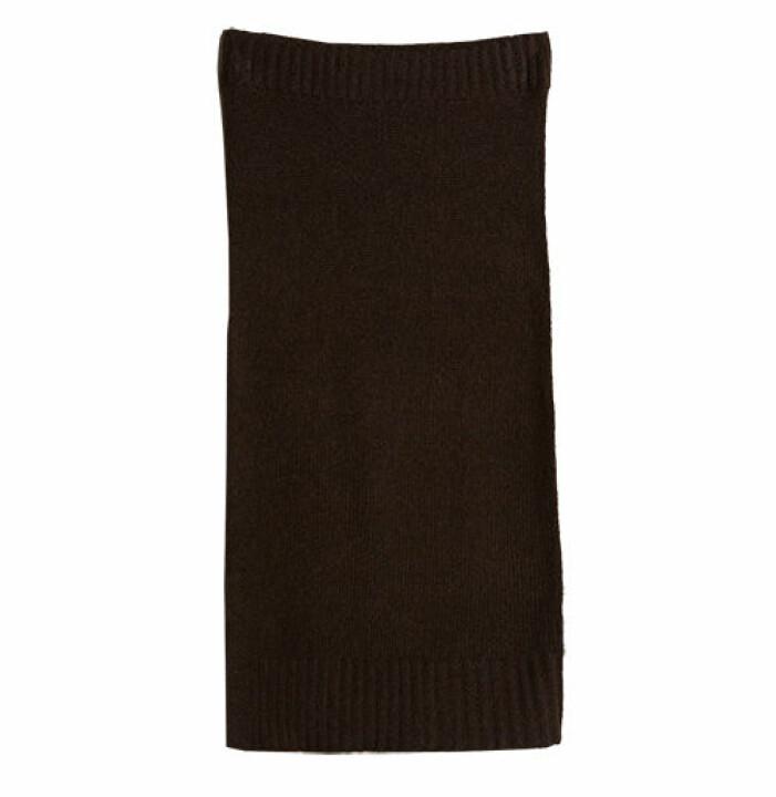 brun stickad kjol lång dam