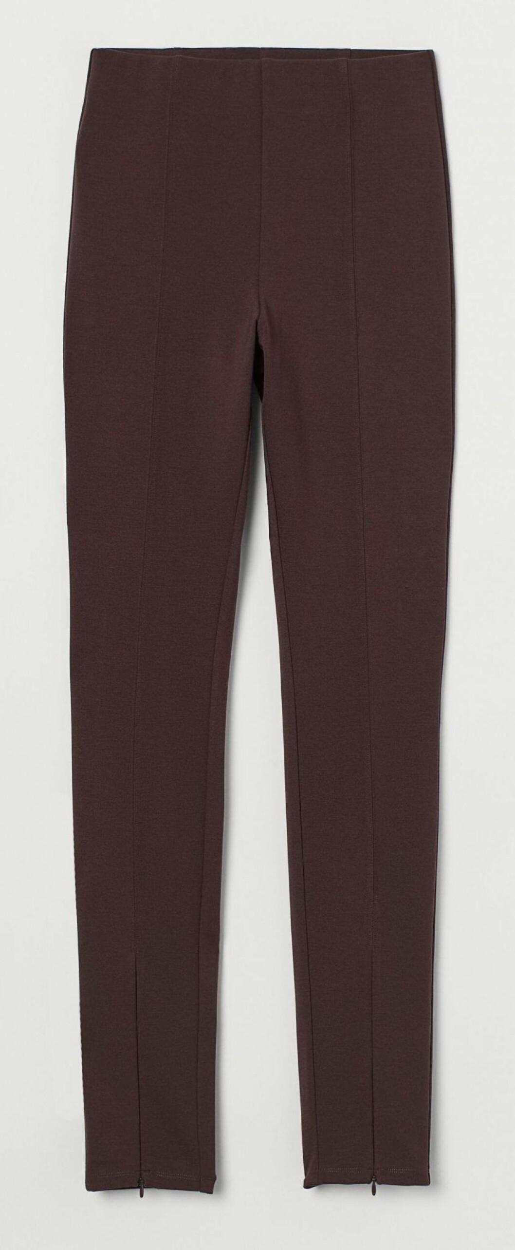 Chokladbruna leggings i stadig och rejäl trikå från H&M