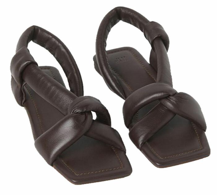 Bruna sandaler med fyrkantig tå