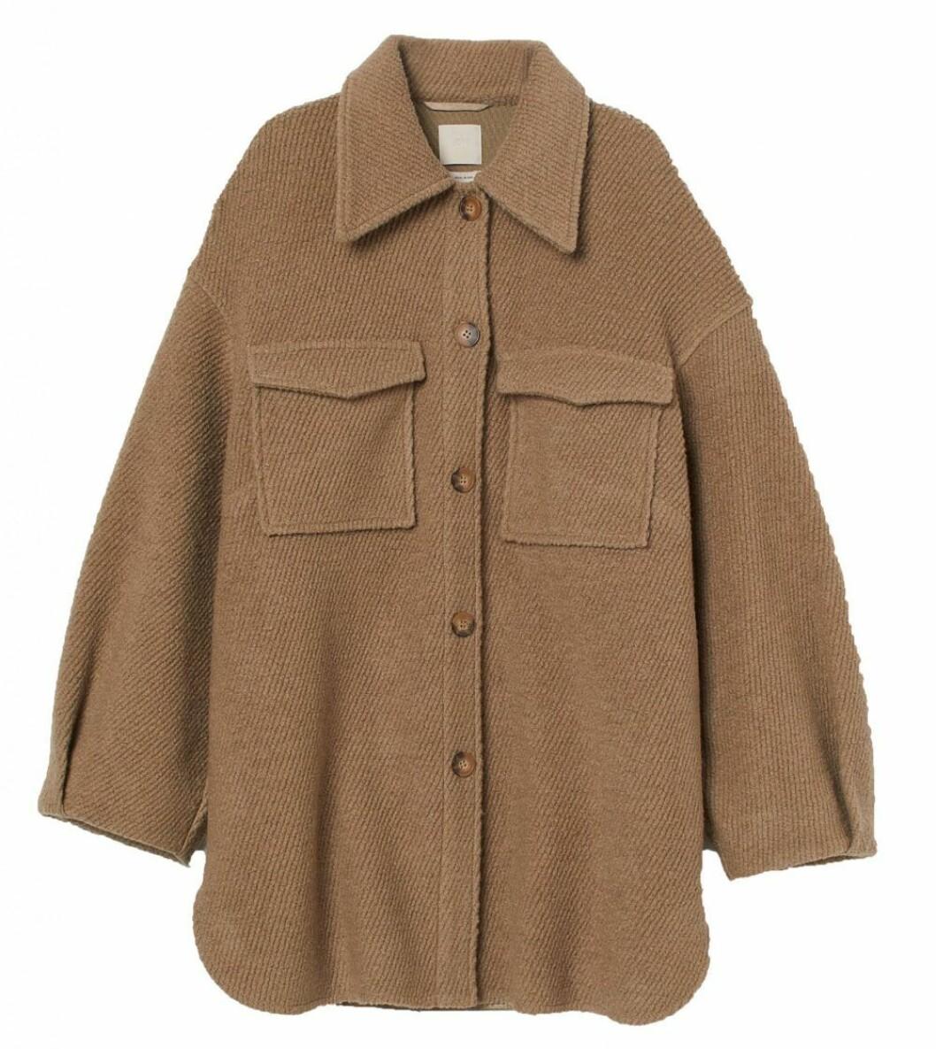 brunbeige skjortjacka från hm