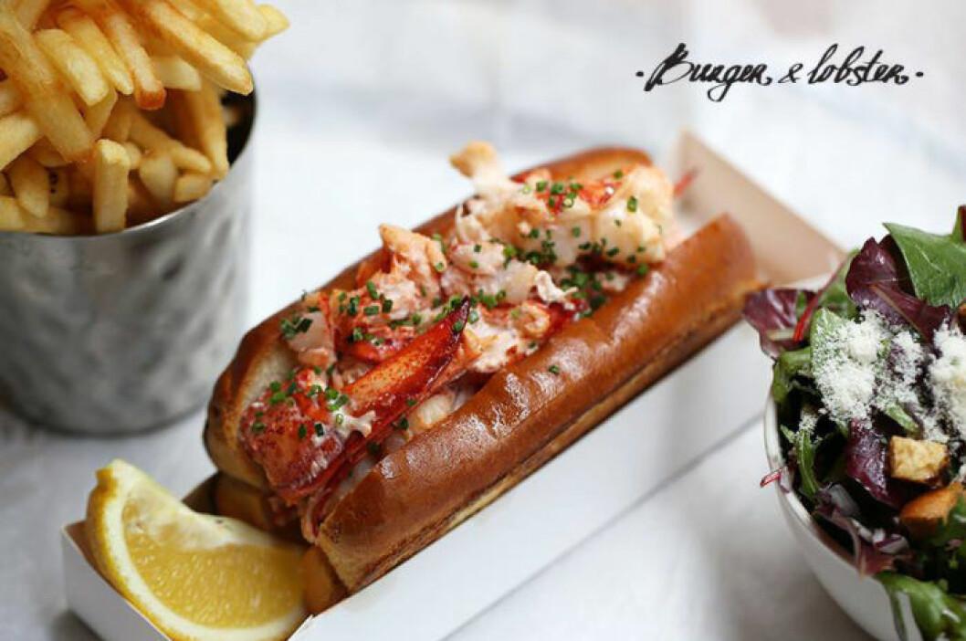 Lobster roll från Burger & Lobster.