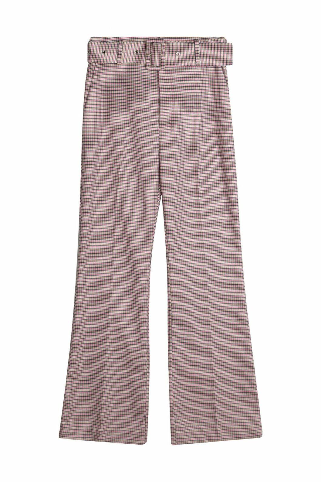 By Malina höstkollektion 2020: rutiga kostymbyxor med vida ben