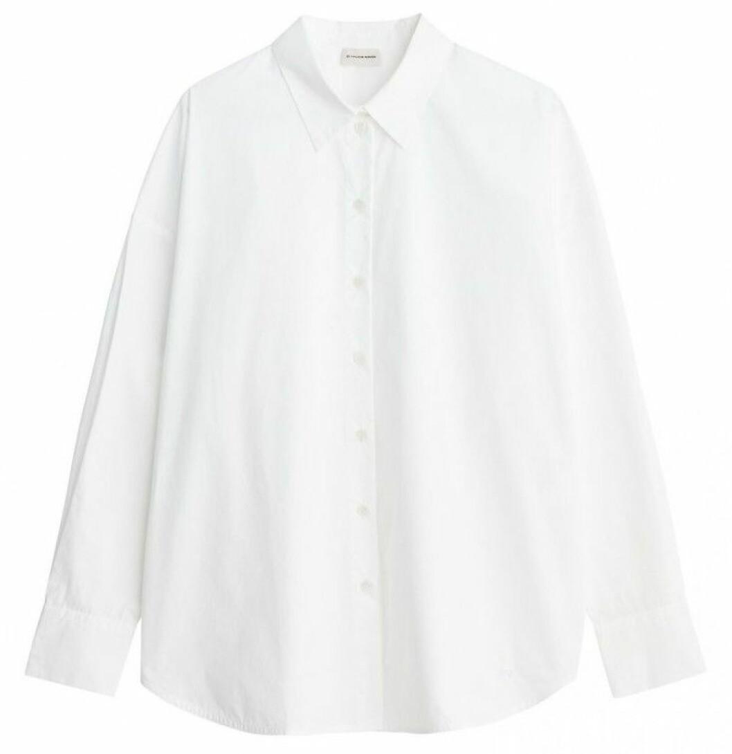 Vit oversized skjorta från By Malene Birger