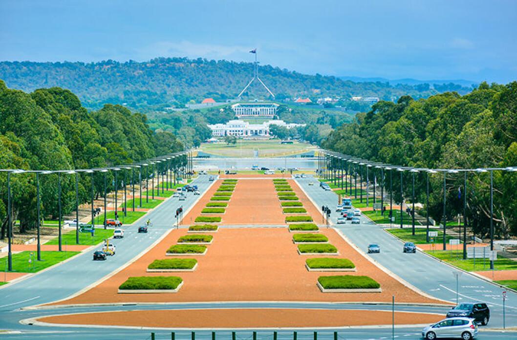 Canberra, Australien utsikt