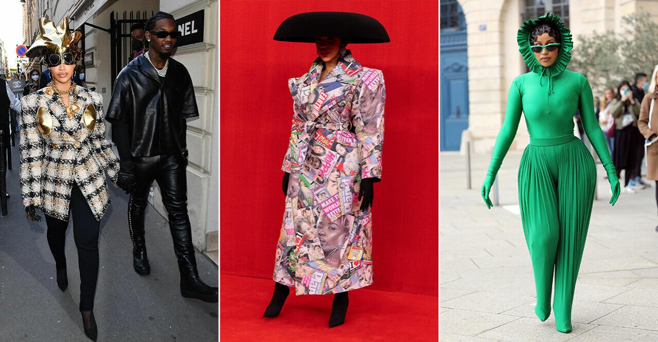 Cardi B:s alla looks under Paris Fashion Week.