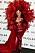 Cardi B i klänning från Mugler under Paris Fashion Week.
