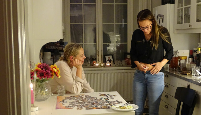 Carina Berg och Martina Lundström i Var fan är storken?