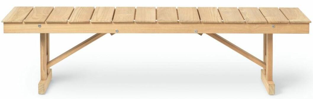bänken BM1871 för en komplett möbelgrupp. Design av Børge Mogensen för Carl Hansen.