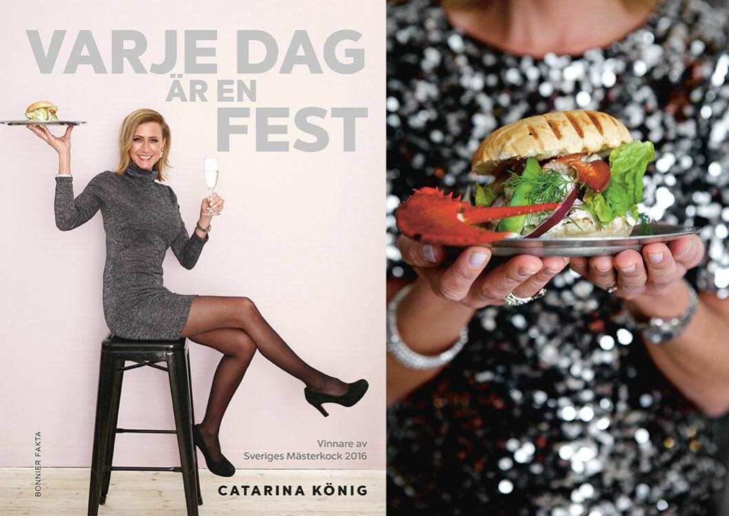 """Hummer burger deluxe från Catarina Königs kokbok """"Varje dag är en fest""""."""