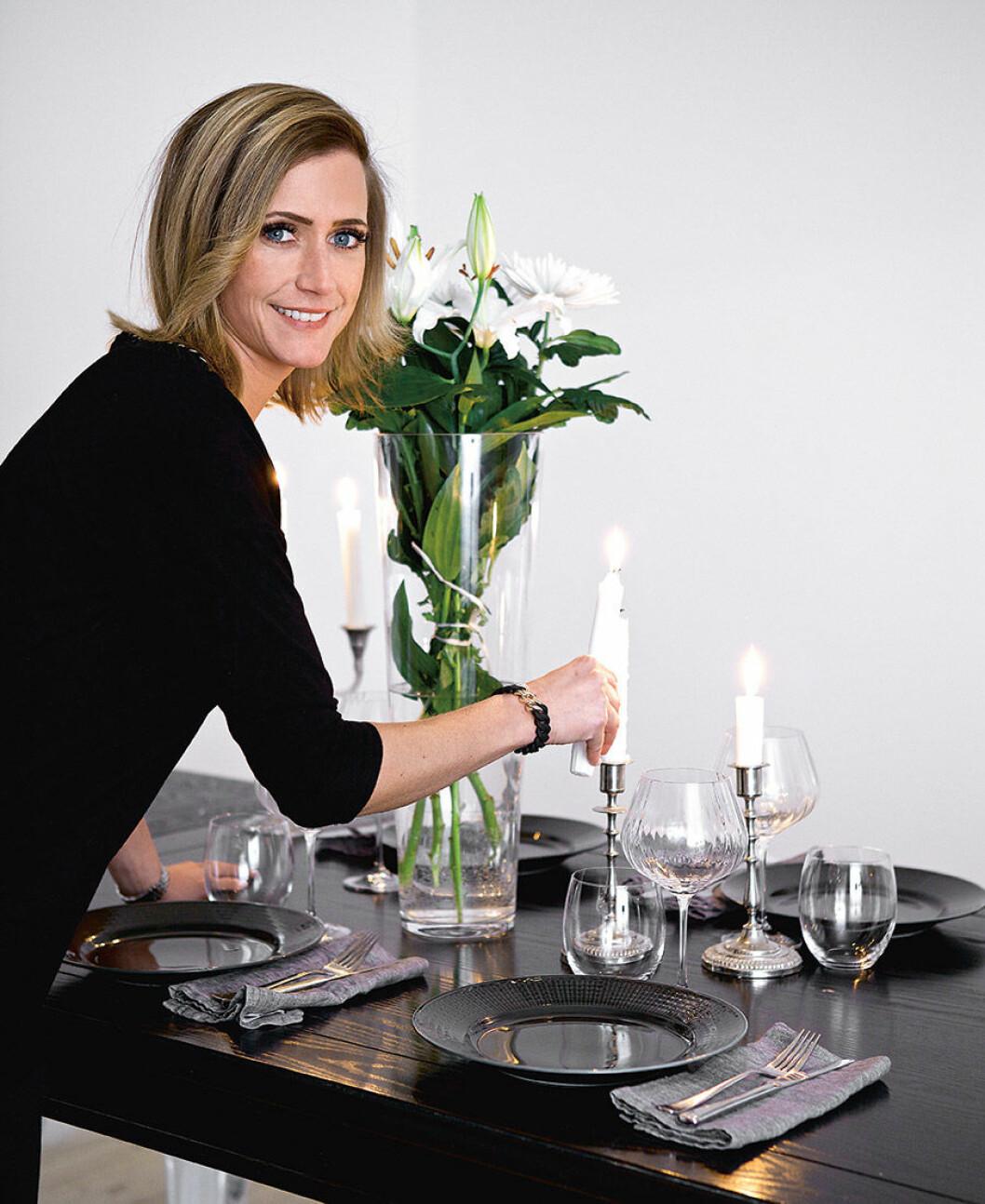 Catarina König har ofta middagar hemma. Foto: Frida Wismar