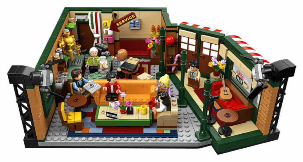 Vänner om Lego - fiket Central Perk