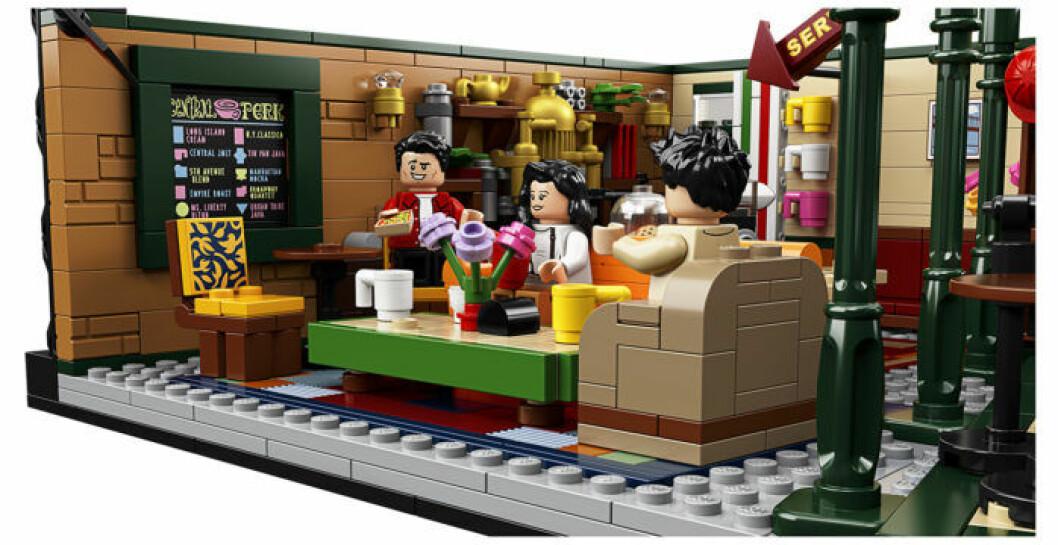 Central Perk Vänner Lego meny