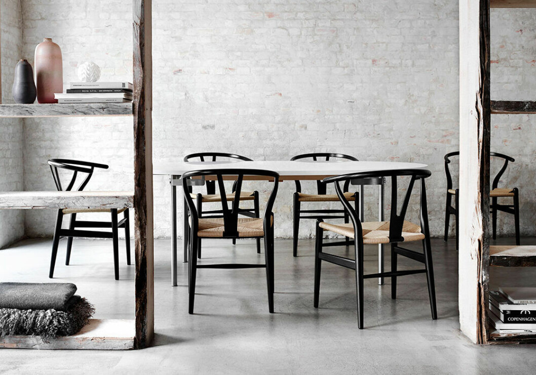 Hans J Wagner designade Y-stolen, Wishbone Chair