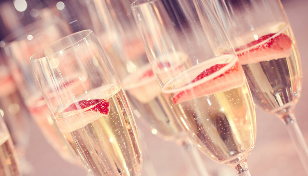 Miss med jordgubbar och champagne