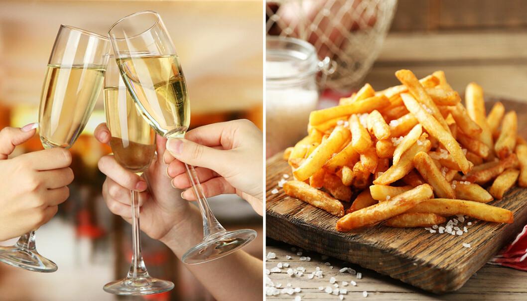 Champagne och pommes frites är en perfekt kombination!