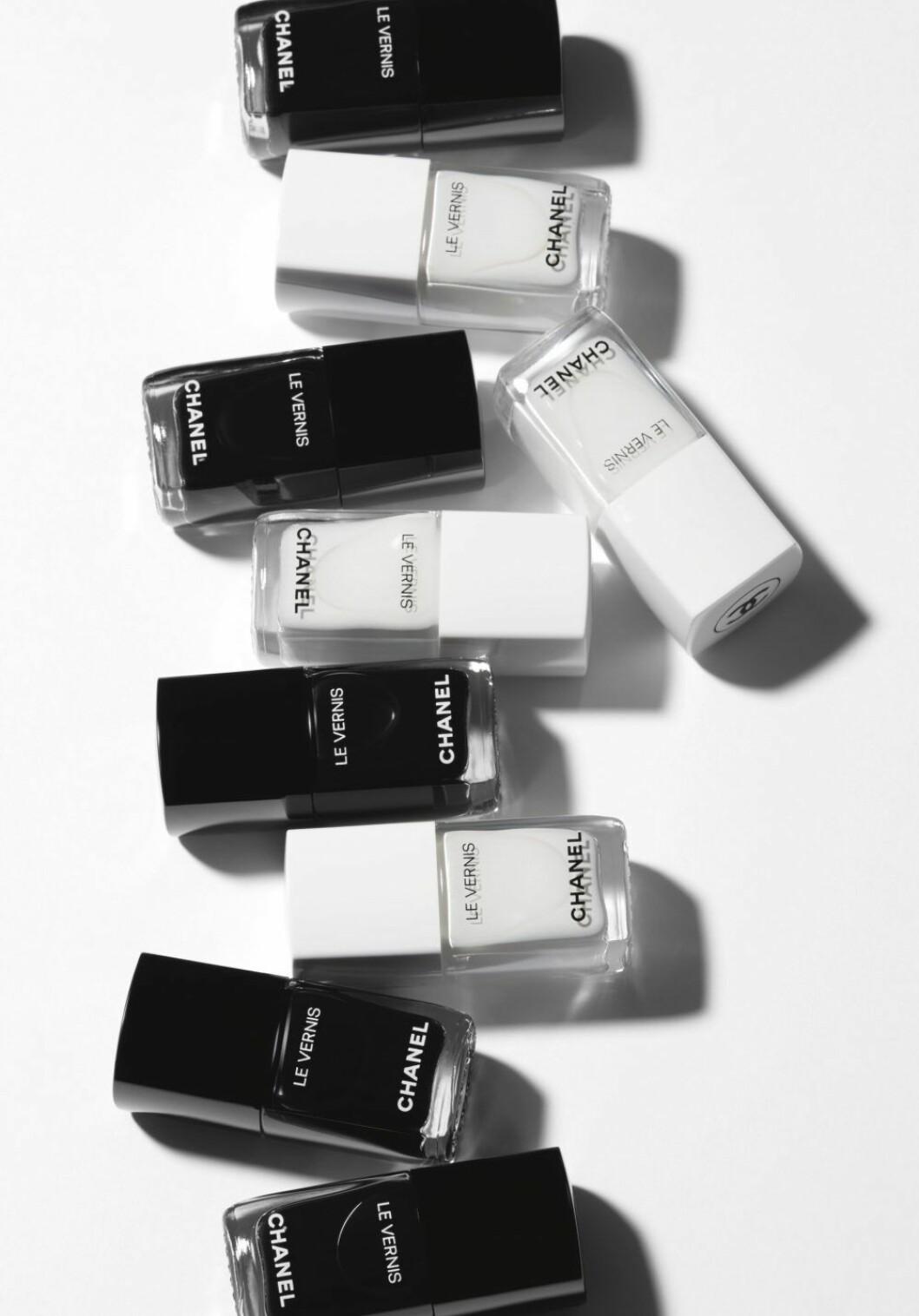 Le Vernis Longwear Black och Le Vernis Longwear White
