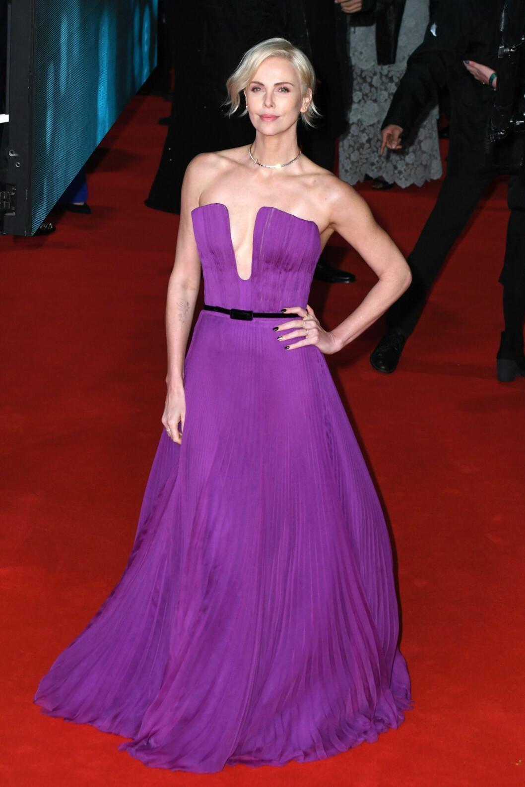 Charlize Theron på Bafta-galan 2020.