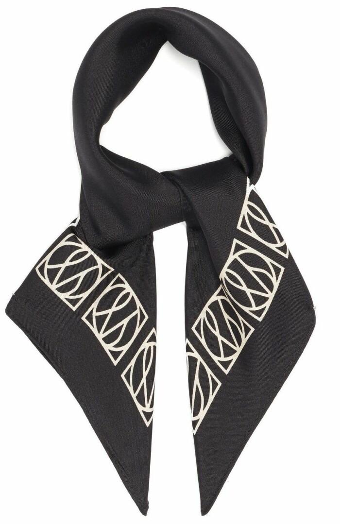 Chic scarf i svart med motiv från Le Scarf.