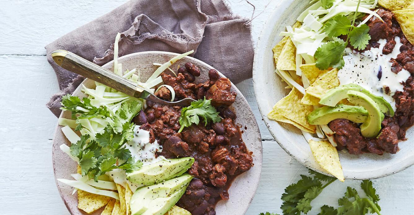 Recept på chili con kyckling