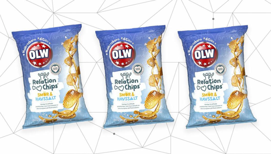 Chips med smör och salt