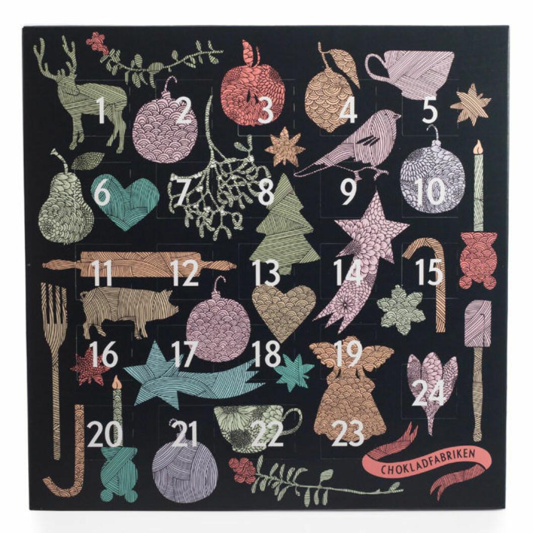 Chokladkalender från Chokladfabriken, 150 kr.