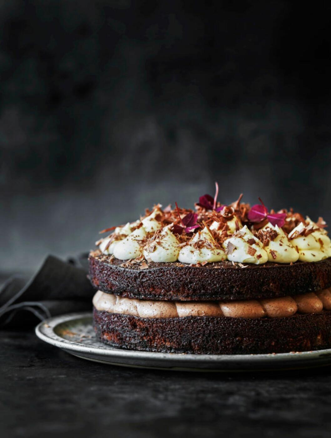 Recept på chokladkaka med chokladkräm