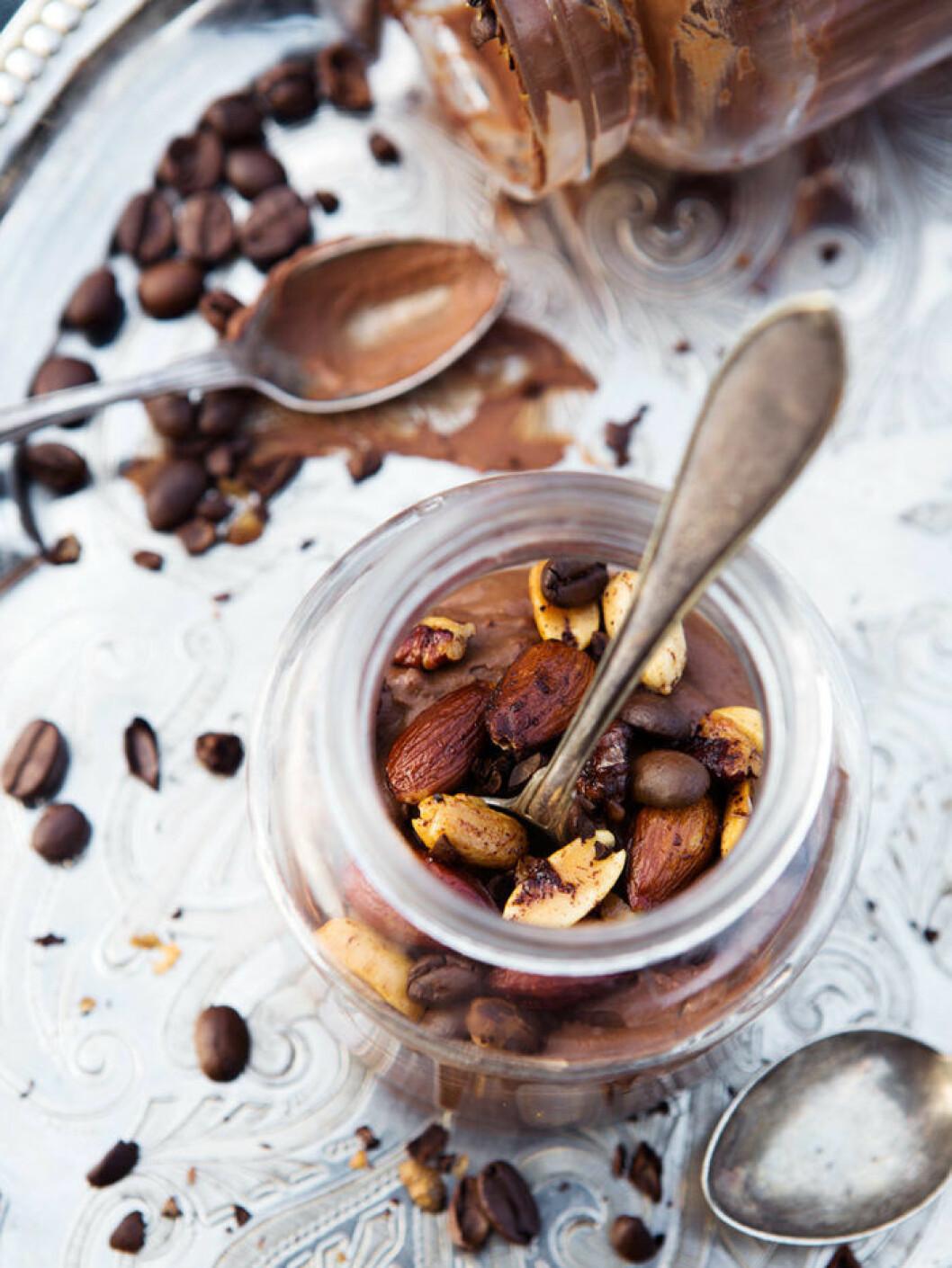 Chokladmousse med avokado.