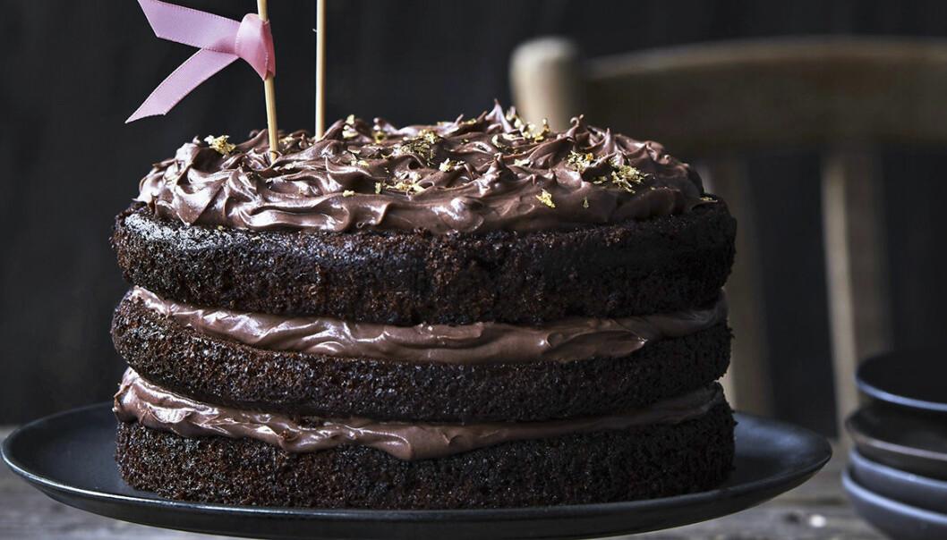 Chokladtårta med nutella