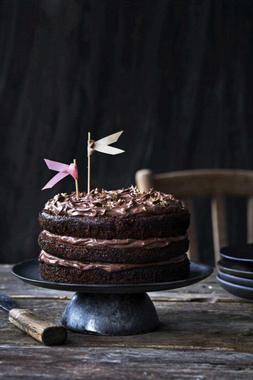 Recept på chokladtårta med nutella