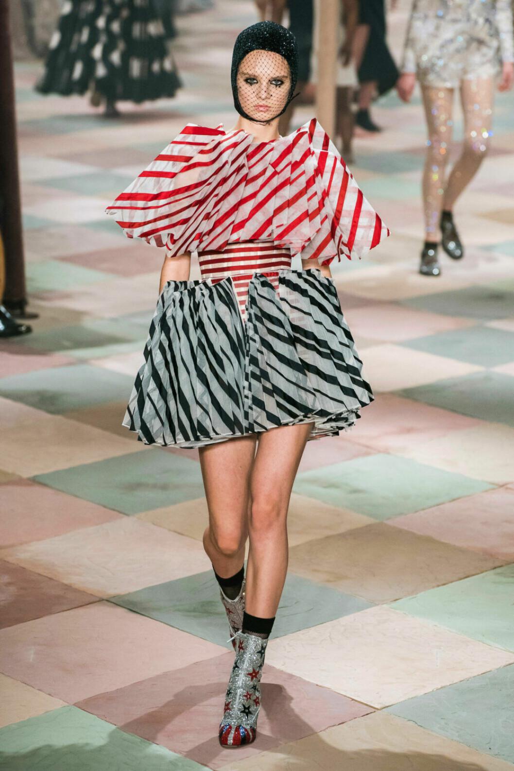 Randig klänning från Dior SS19 haute couture