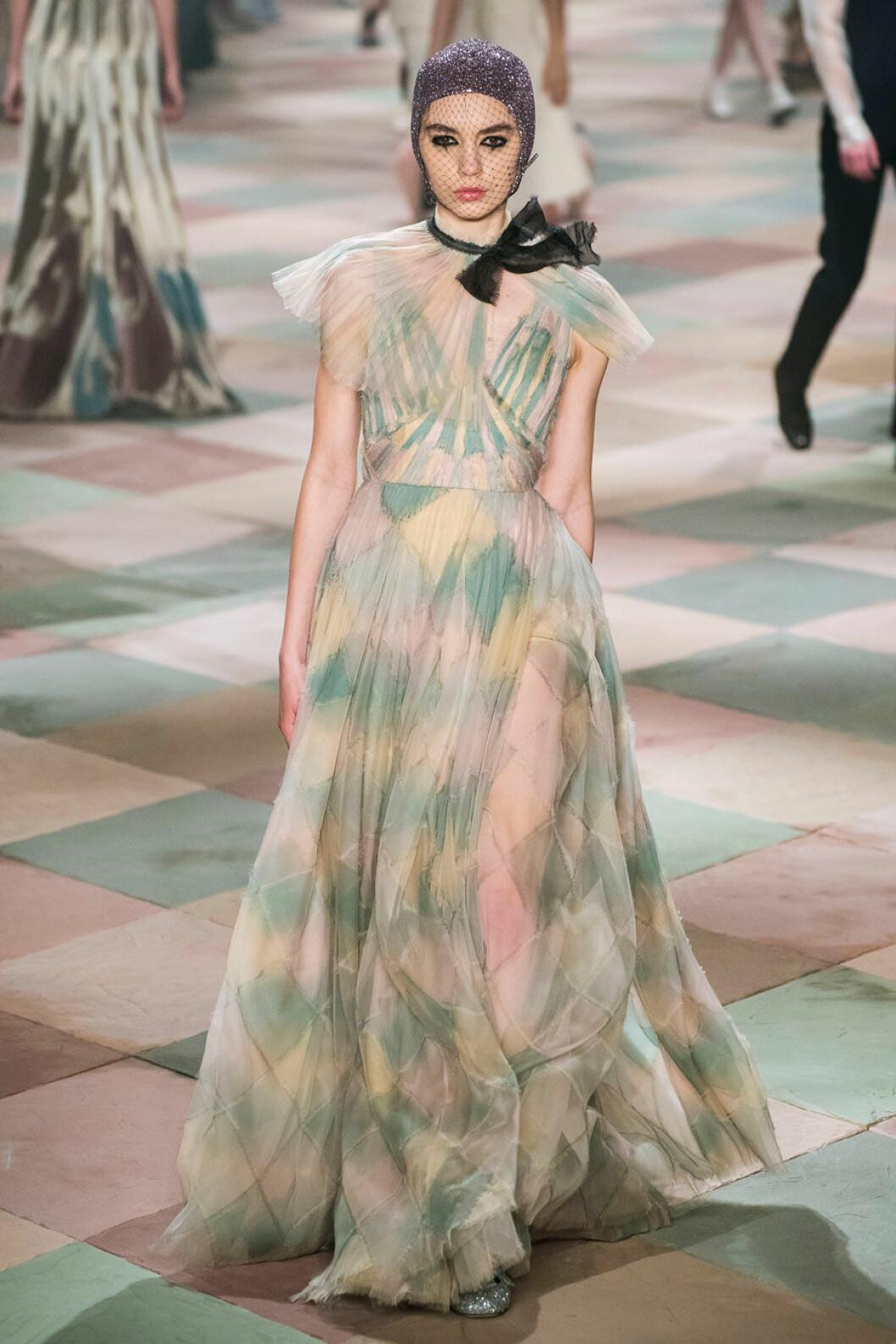 Härliga rutor på Diors SS19 haute couture–visning