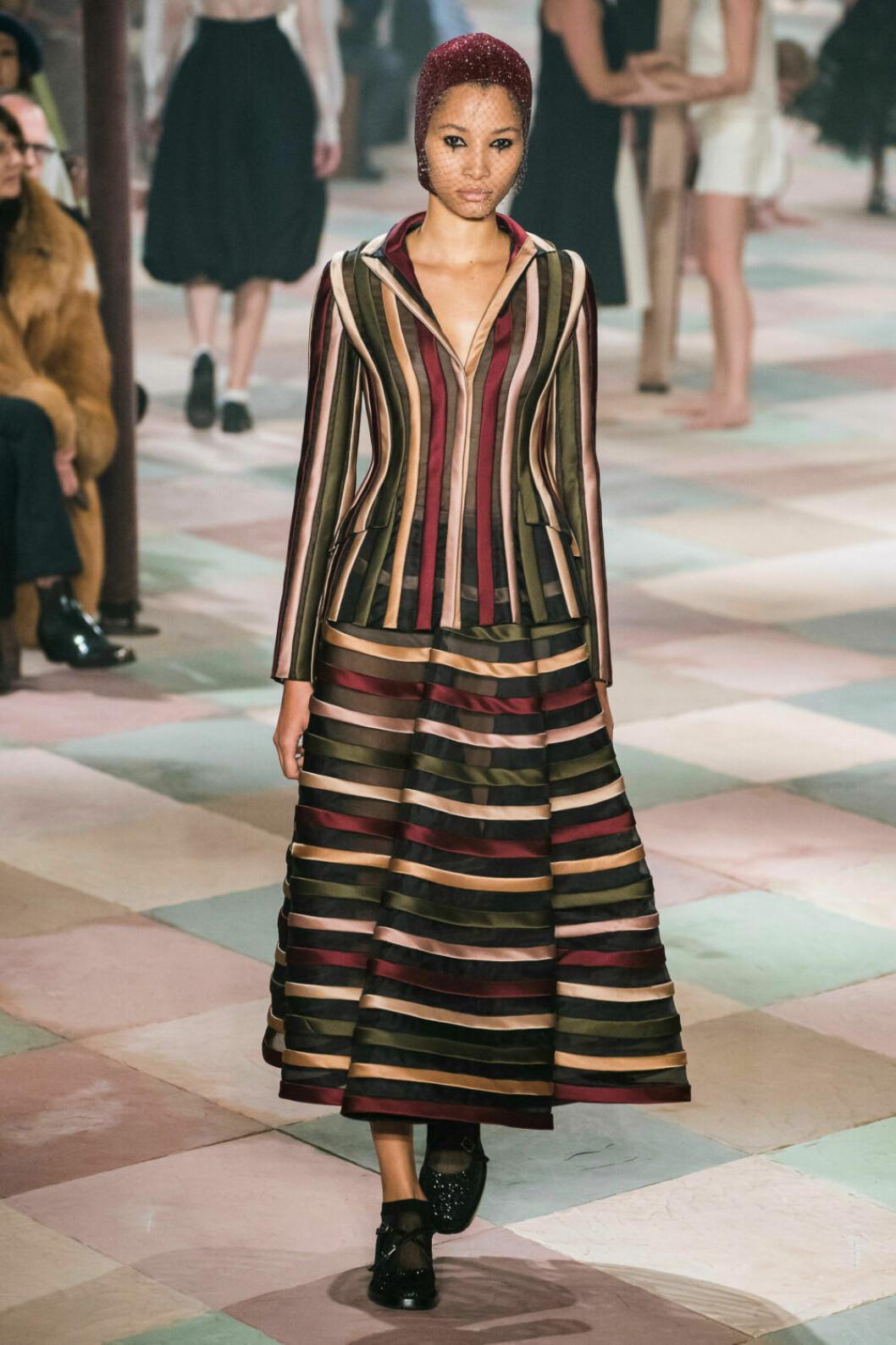 Härliga ränder på Diors SS19 haute couture–visning