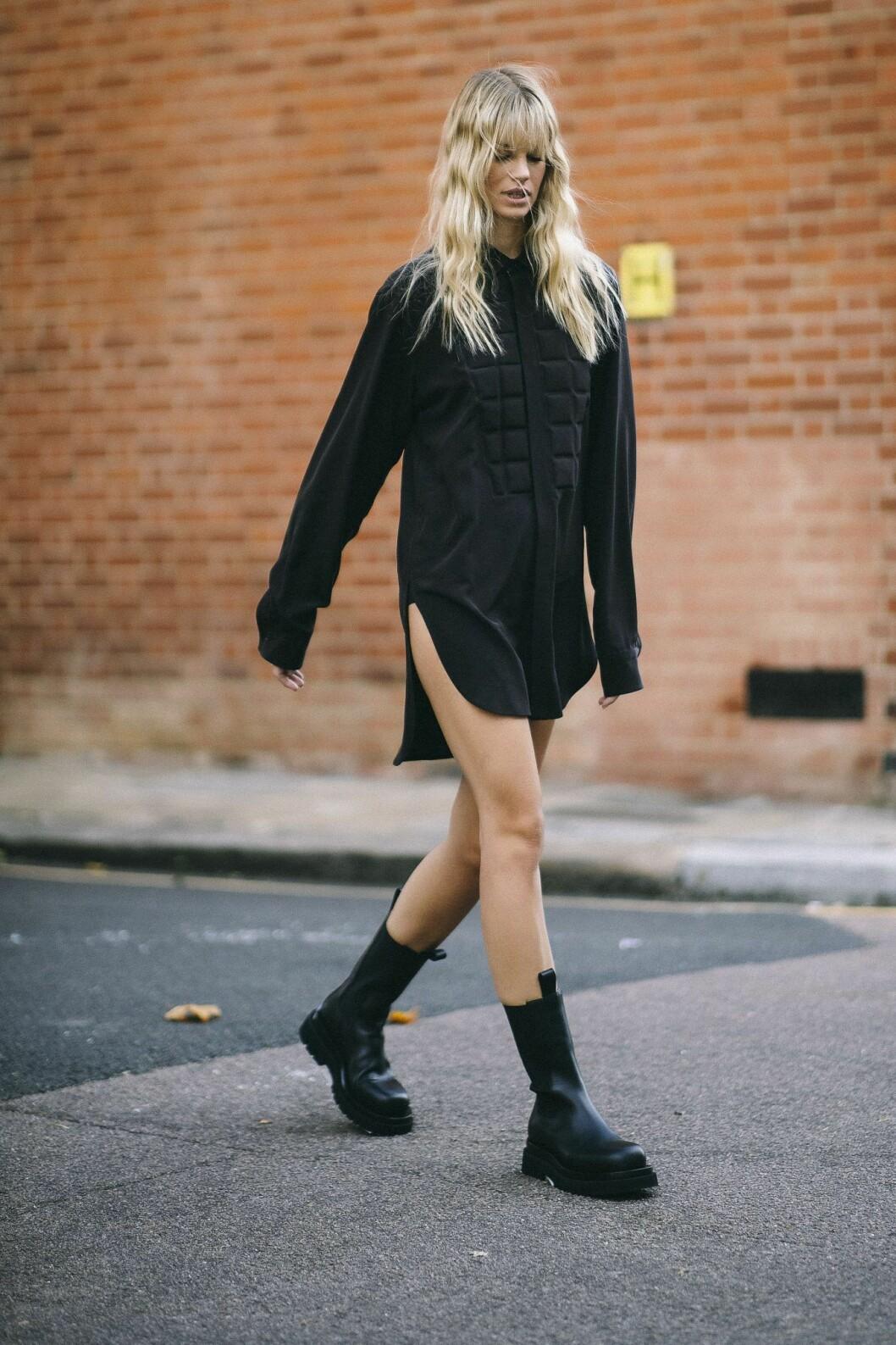 chunky boots london fashion week.