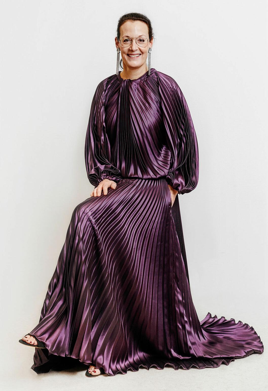 Cia Jansson i klänning från Jennifer Blom