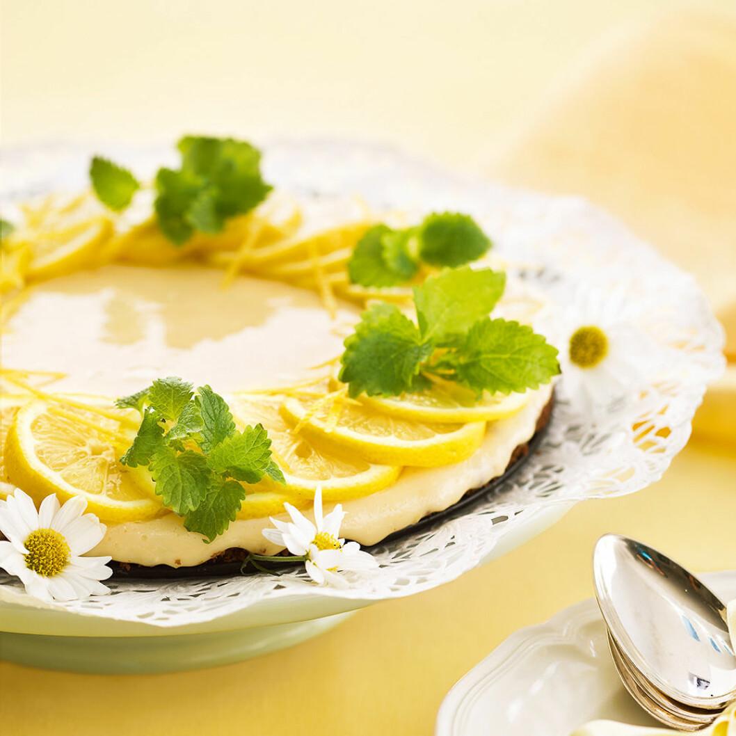 Citronkaka med kondenserad mjölk.