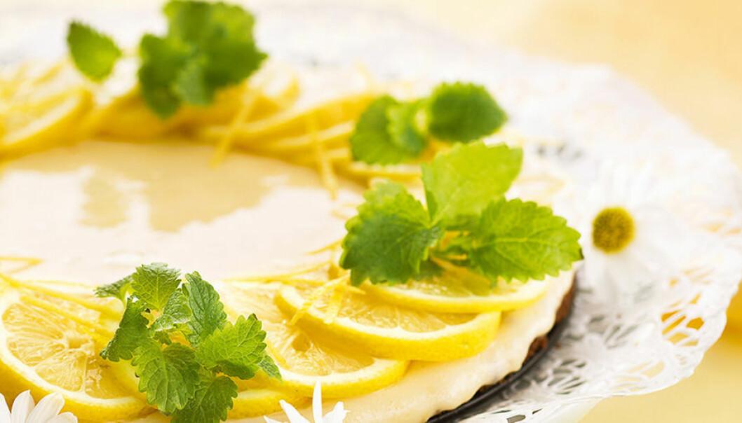 Lättbakad citronkaka med kondenserad mjölk.
