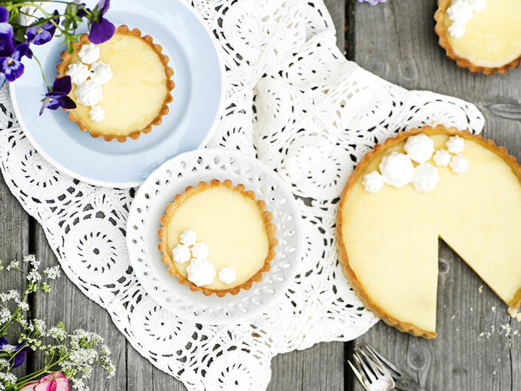 Citrontartletter med laktrits.